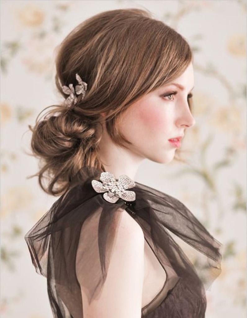 chignon marie semi lch - Coiffure Mariage Cheveux Mi Long Lachs