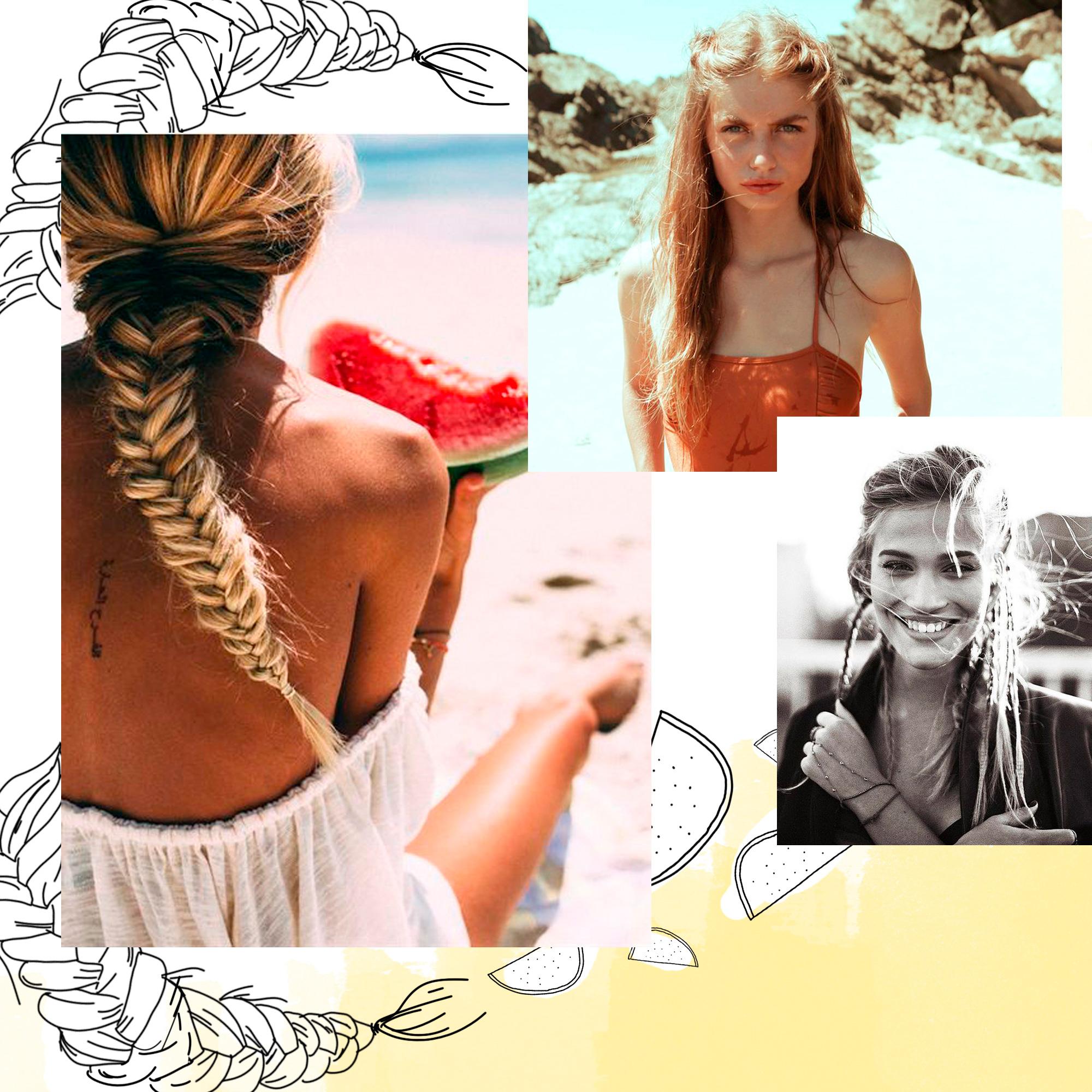 Coiffure pour la plage cheveux mi long