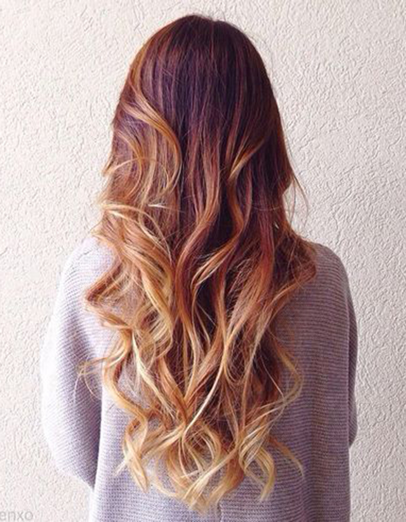 how to dye hair ombre style at home balayage cuivr 233 et pointes blond miel balayage cuivr 233 8233