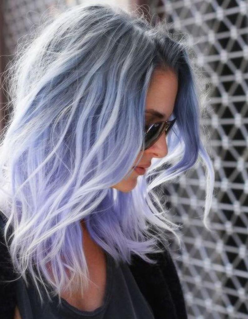 ombr hair bleu ombr hair les plus beaux d grad s de couleur elle. Black Bedroom Furniture Sets. Home Design Ideas