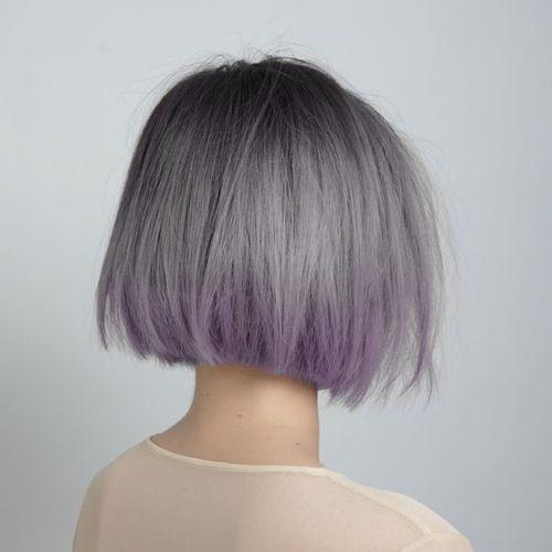 Carr plongeant rainbow hair les plus jolis carr s plongeants elle - Ombre hair carre plongeant ...