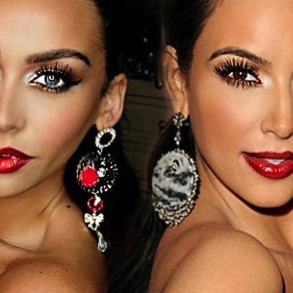 le maquillage glamour de kim kardashian incroyable