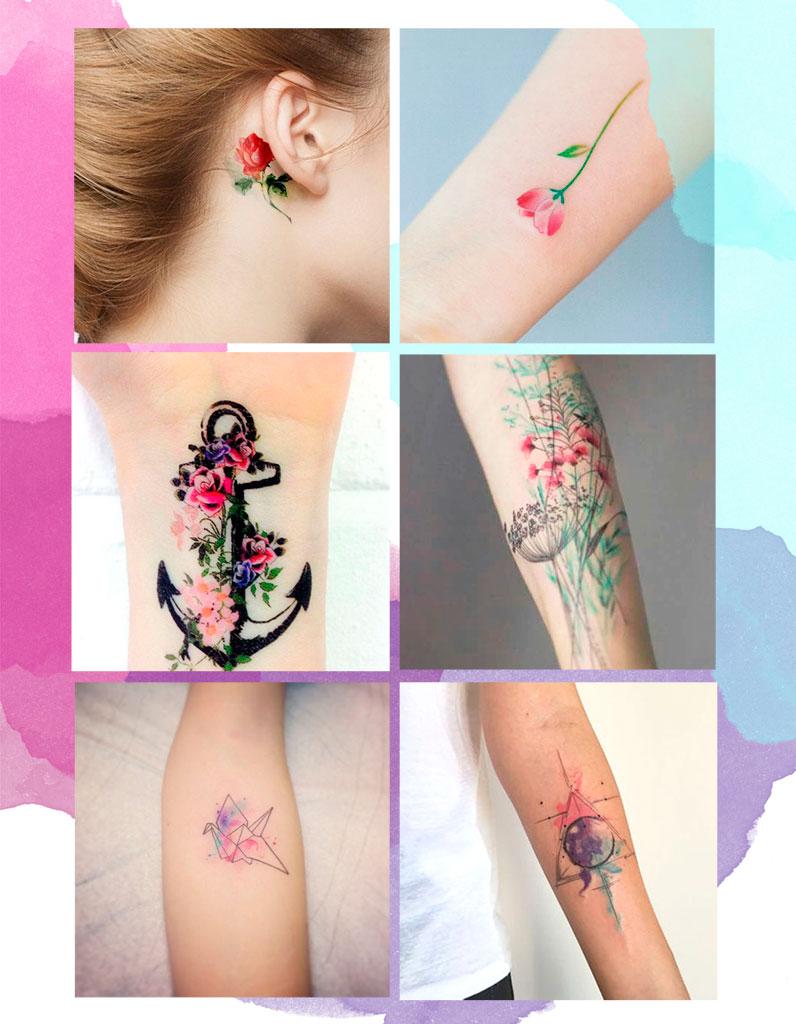 Les plus jolis tatouages aquarelle pour voir la vie en Technicolor