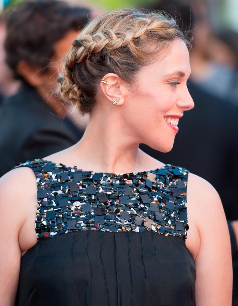 Les deux jolies tresses africaines du0026#39;Alysson Paradis - Cannes 2015  les plus belles coiffures ...