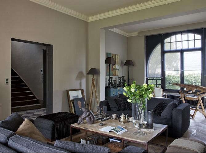 Ambiance 19e si cle dans cette maison lilloise elle d coration - Idees decors du milieu du siecle salon ...