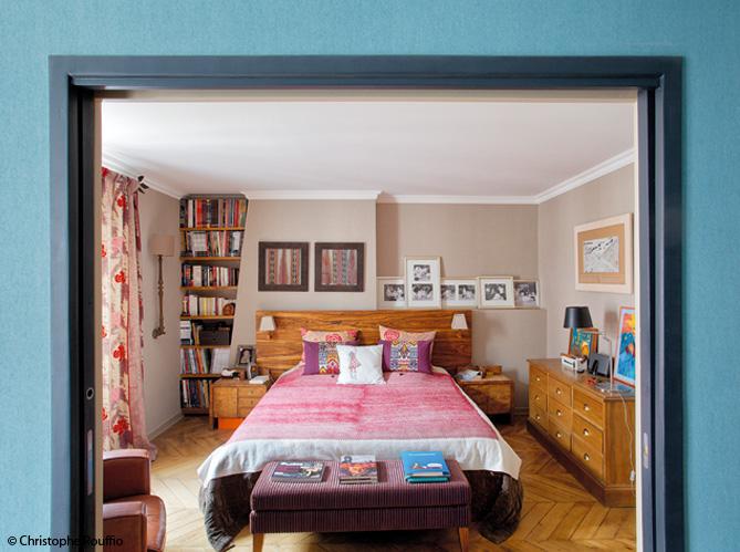 Appartement parisien on ose la d co boh me elle - Deco chambre boheme ...