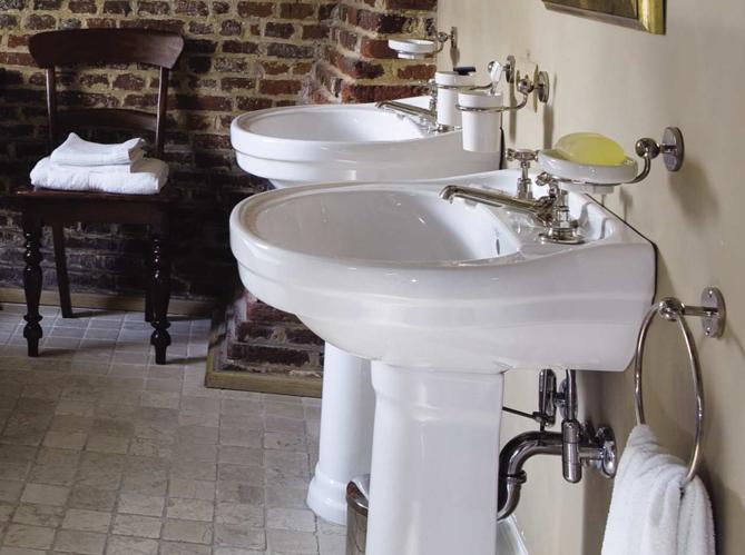 Le charme du rétro dans la salle de bains  Elle Décoration