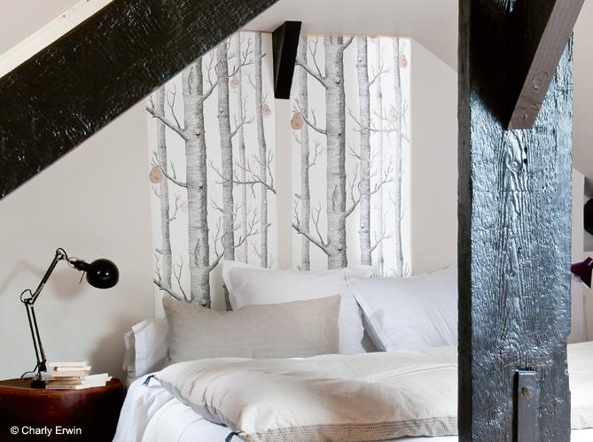 mettre du papier peint un peu partout elle d coration. Black Bedroom Furniture Sets. Home Design Ideas