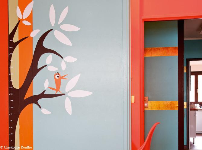 Peinture de la couleur sur les murs elle d coration - Idees deco peinture ...