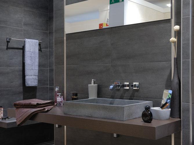 salles de bains le carrelage fait sensation elle d coration. Black Bedroom Furniture Sets. Home Design Ideas