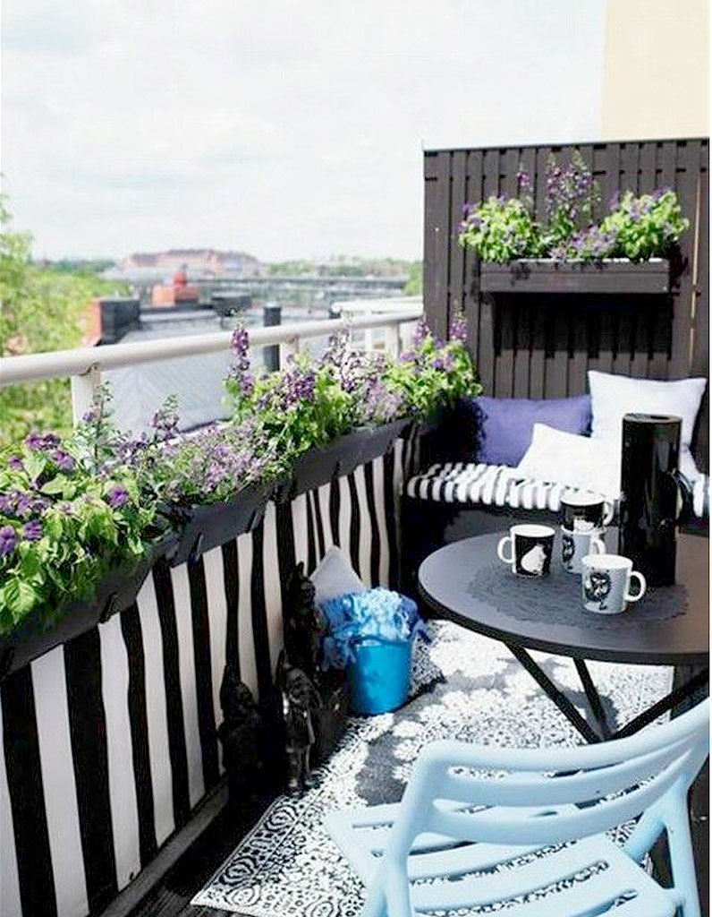 15 id u00e9es pour mettre son balcon au vert