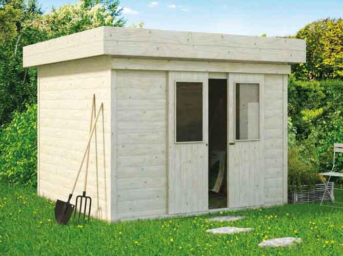 24 abris pour votre jardin abris de jardin elle d coration - Abri jardin moderne toit plat montreuil ...