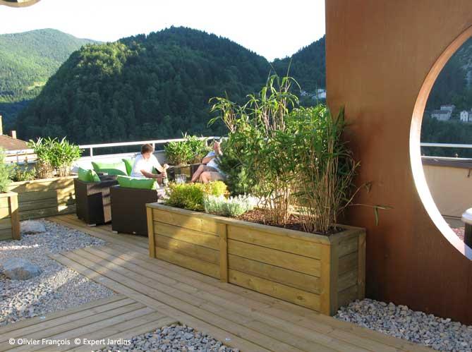 Avant apr s une terrasse zen en plein jura elle d coration - Plantes de terrasse exterieur ...