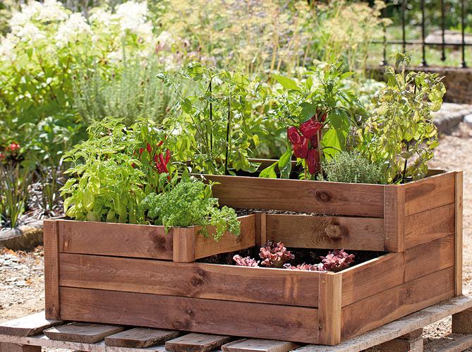 Mobilier de jardin de ville et terrasse elle d coration - Carre potager truffaut ...