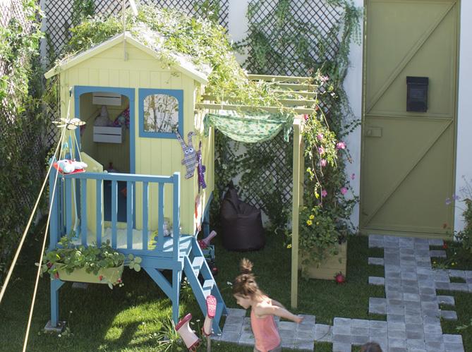 Youhou un coin jardin r serv aux enfants elle d coration - Cabane pour jardin orleans ...