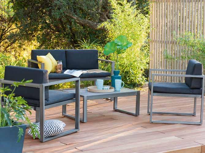un salon de jardin canon sans casser sa tirelire elle. Black Bedroom Furniture Sets. Home Design Ideas
