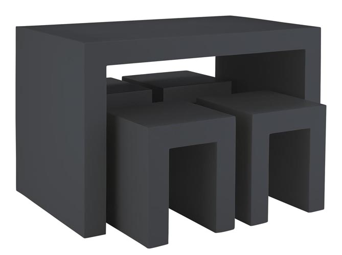 Choisissez votre table de jardin elle d coration - Table imitation beton ...