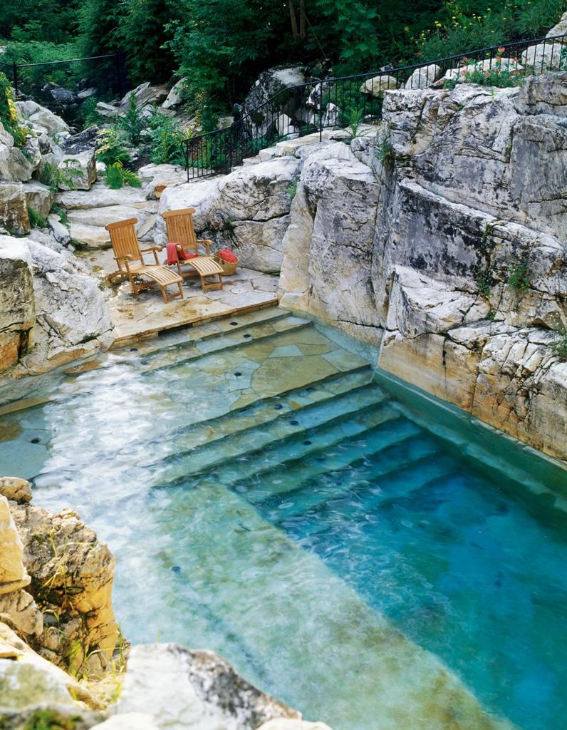 Pinterest les 30 plus belles piscines qui vont vous for Petite piscine naturelle
