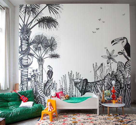 20 int rieurs aux inspirations africaines glan s sur for Papier peint facon bois