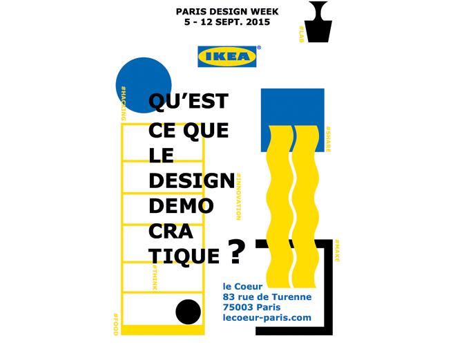 ikea paris design week qu est ce que le design d mocratique elle d coration. Black Bedroom Furniture Sets. Home Design Ideas