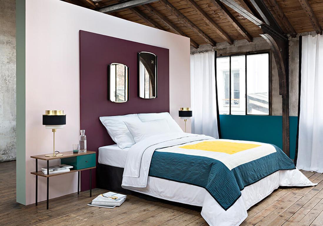 chambre bleu paon. Black Bedroom Furniture Sets. Home Design Ideas