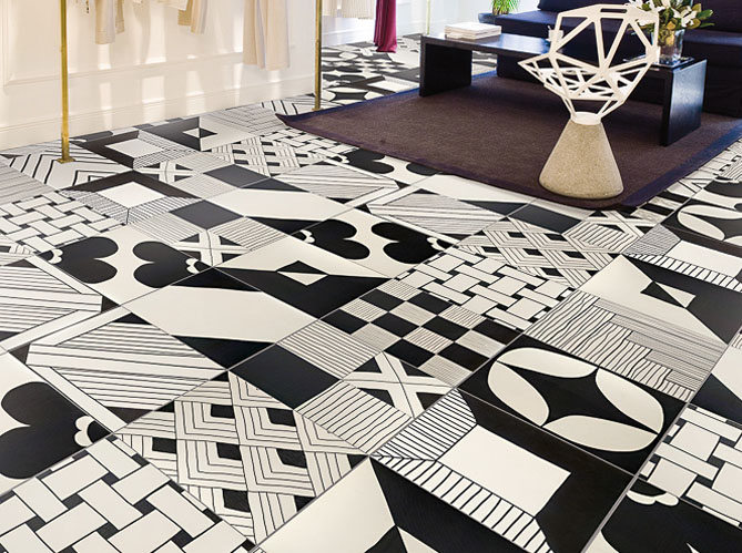 tendance des carreaux graphiques qui en jettent elle d coration. Black Bedroom Furniture Sets. Home Design Ideas