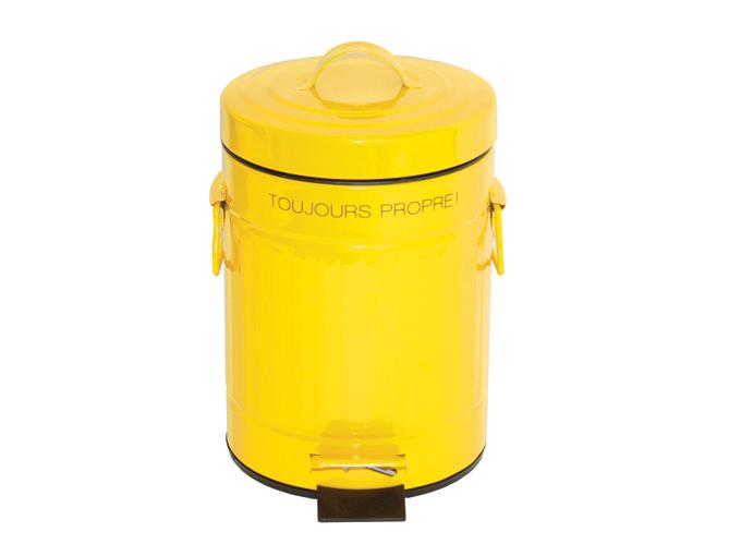 D co je vois la vie en jaune elle d coration - Poubelle cuisine jaune ...