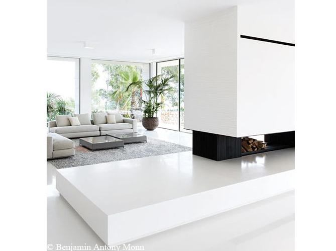 Grande tendance d co le blanc du sol au plafond elle d coration - Laver le sol au vinaigre blanc ...