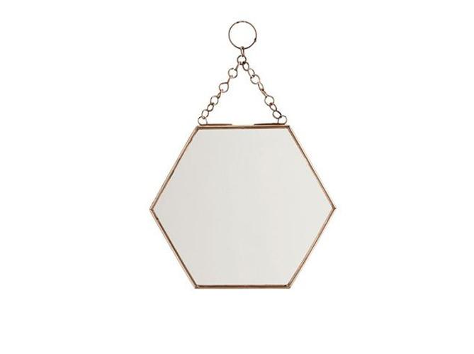 Tendance le laiton brille dans la d co elle d coration for Miroir hexagonal cuivre