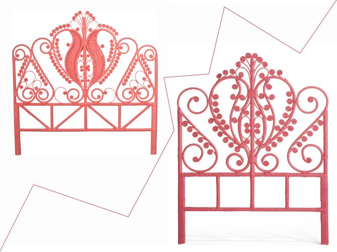 t te de lit en rotin 1 objet 2 budgets elle d coration. Black Bedroom Furniture Sets. Home Design Ideas