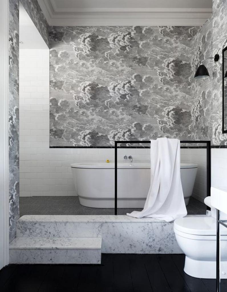 15 salles de bains grises pour trouver la v tre elle for Salle de bains grise