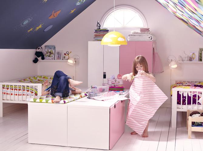 5 belles chambres d enfant am nag es dans les combles elle d coration - Chambre de bebe dans une alcave ...