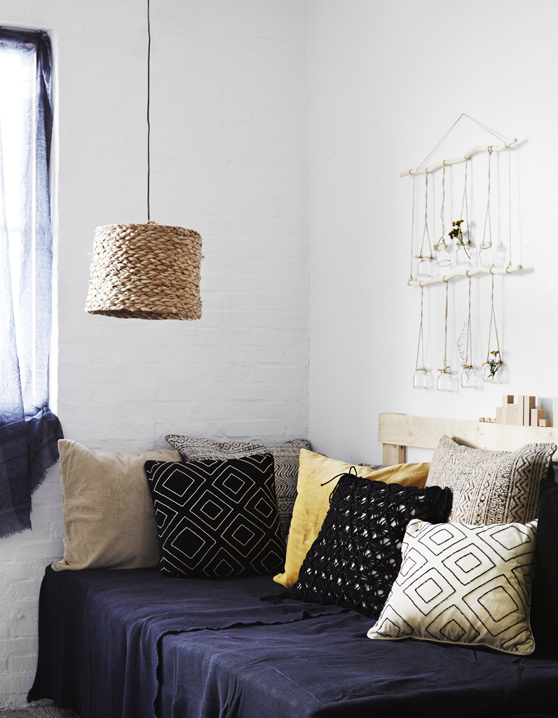 Succombez la chambre bleue elle d coration for Linum linge de maison