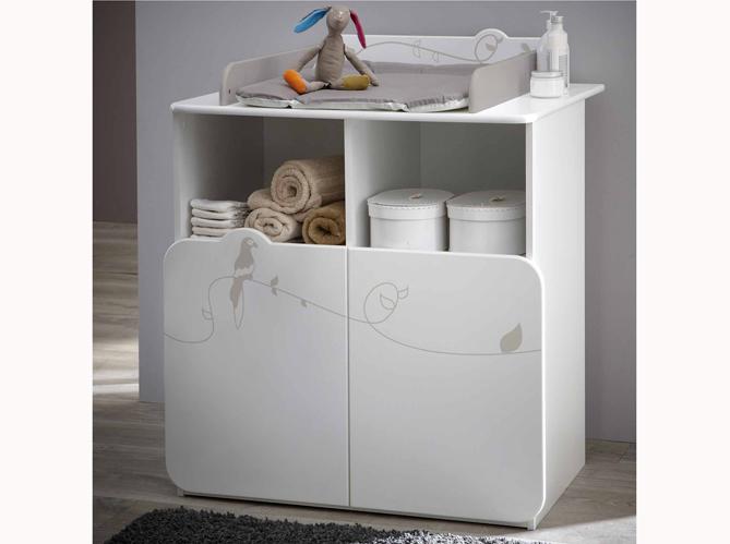 Gagnez de la place avec ces meubles b b elle d coration - Commode pour bebe meuble a langer ...