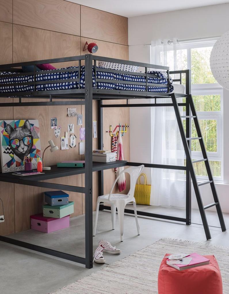 60 lits mezzanine pour gagner de la place elle d coration - Tablette pour lit mezzanine fly ...