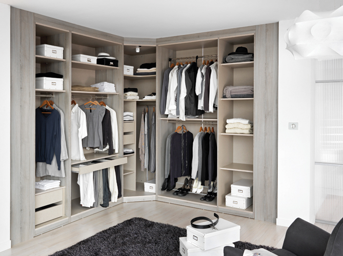 D co chambre armoire ou dressing vous de choisir elle d coration - Meuble d angle dressing ...