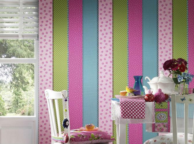 Papier peint enfant 15 id es fun pour sa chambre elle - Tapisserie pour chambre ado fille ...