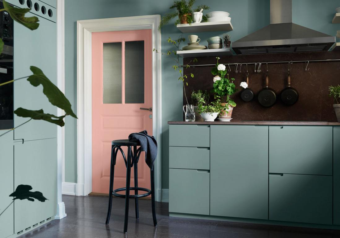 Cuisine gris et vert anis booster la decoration de sa - Cuisine vert anis et gris ...