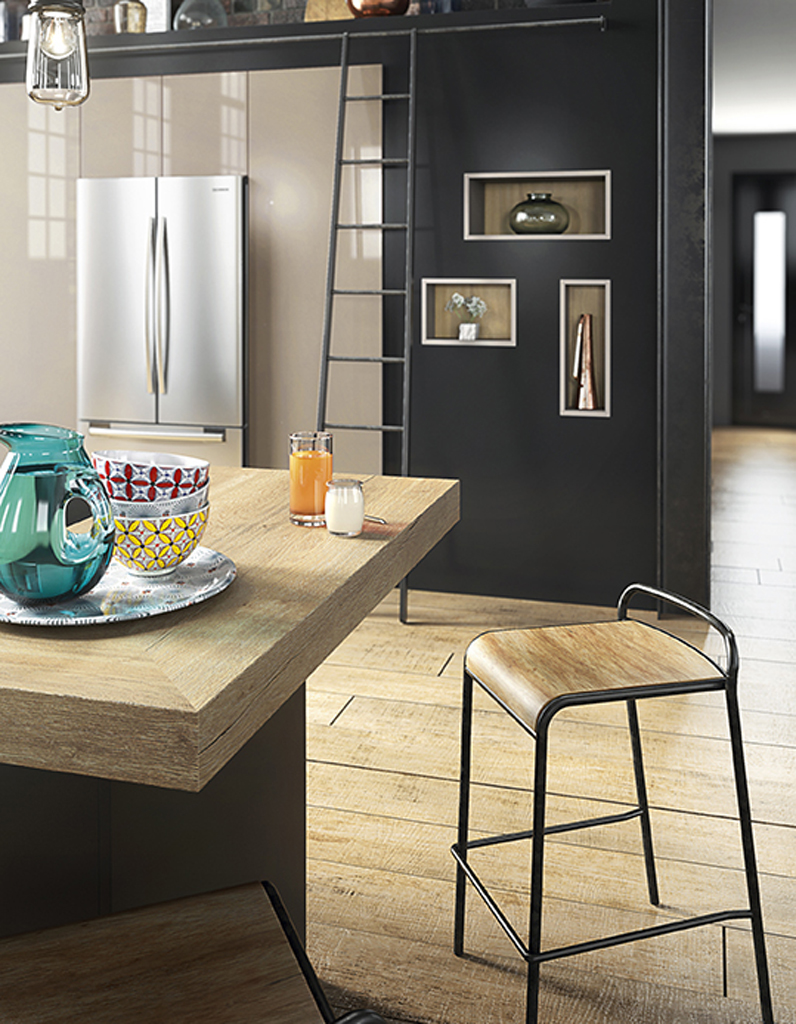 un plan de travail en ch ne pour une cuisine brute des plans de travail pour tous les styles. Black Bedroom Furniture Sets. Home Design Ideas
