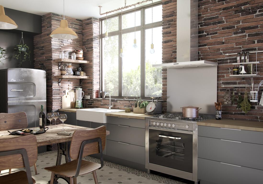 On joue la carte du chic et de l 39 intemporel avec la cuisine grise elle d coration - Idee deco cuisine grise ...