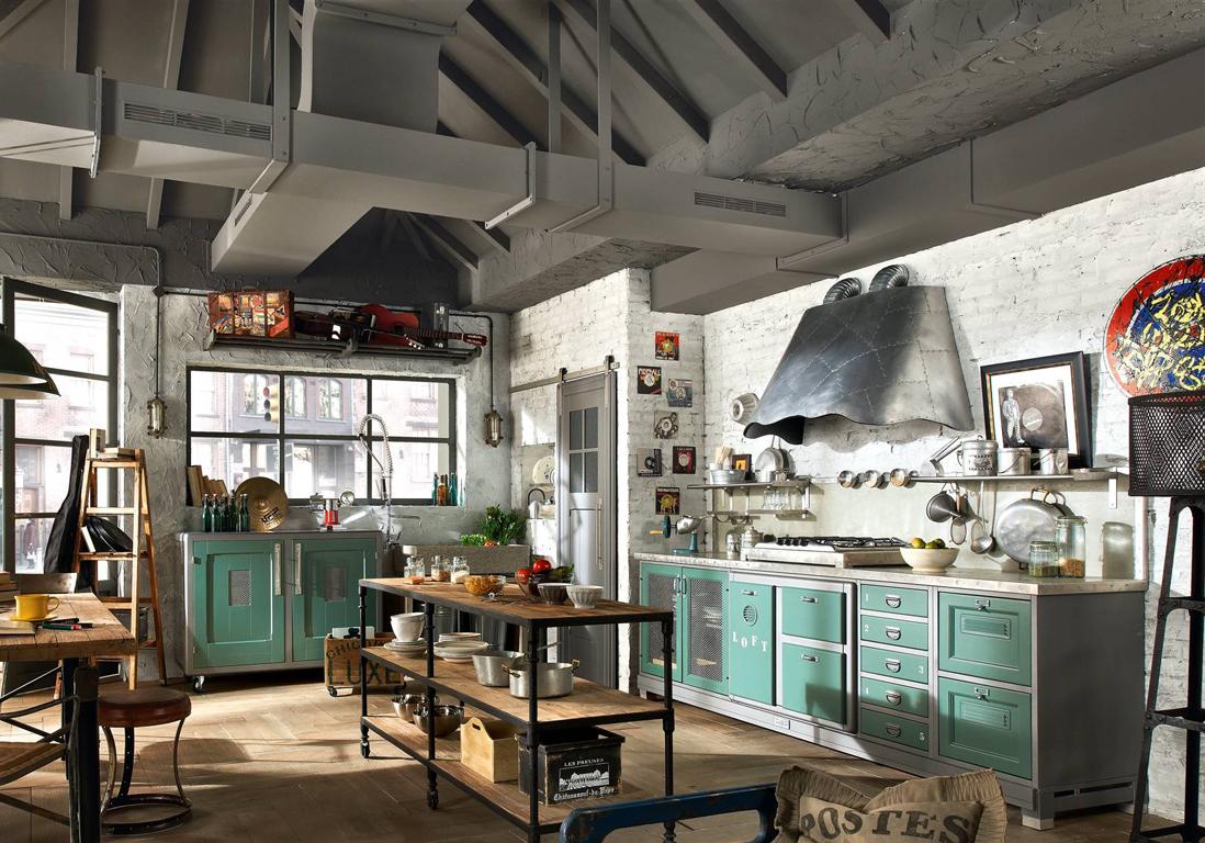 Nos id es pour am nager une belle cuisine vintage elle for Esprit industriel