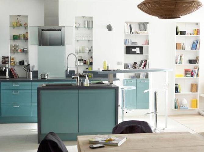 Decoration Cuisine Campagne : Une cuisine design avec des motifs