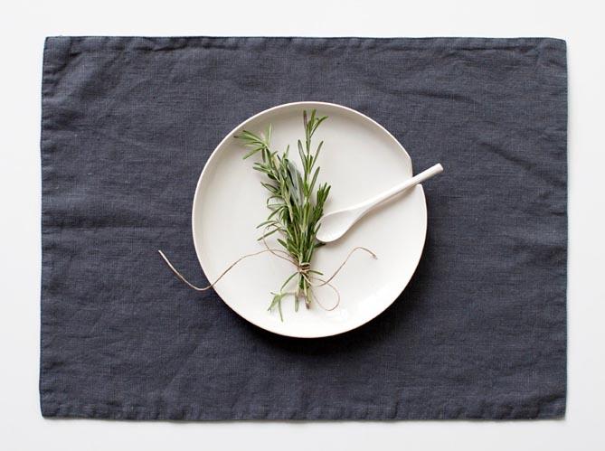 Pratique le set de table elle d coration - Set de table en lin ...