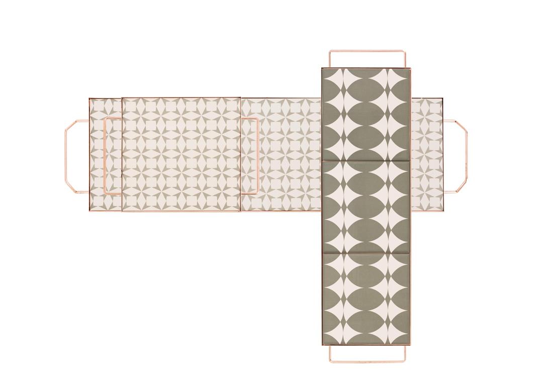 plateaux motifs carreaux de ciment les plateaux se. Black Bedroom Furniture Sets. Home Design Ideas