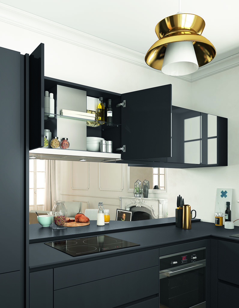 Les placards de cuisine les plus pratiques ce sont eux elle d coration - Hauteur placard cuisine ...