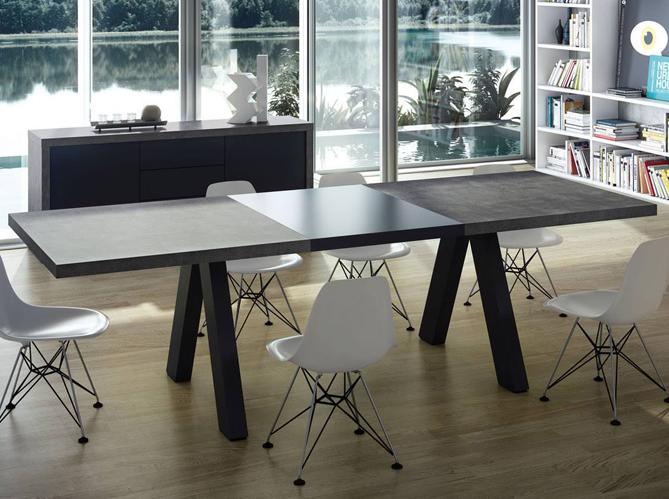 Table rallonges du mobilier aussi pratique que for Table industrielle avec rallonge