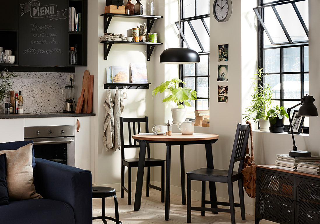 d couvrez les plus belles tables de cuisine du moment elle d coration. Black Bedroom Furniture Sets. Home Design Ideas