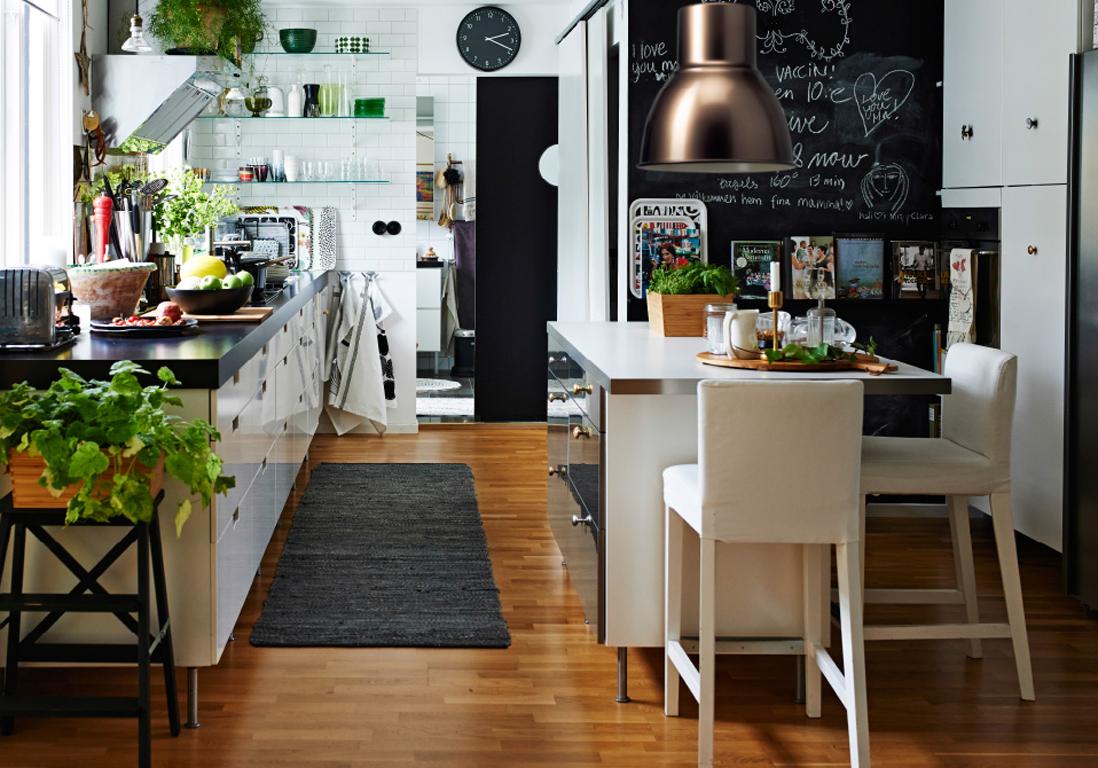 Nos id es d coration pour la cuisine elle d coration - Idee cuisine en longueur ...