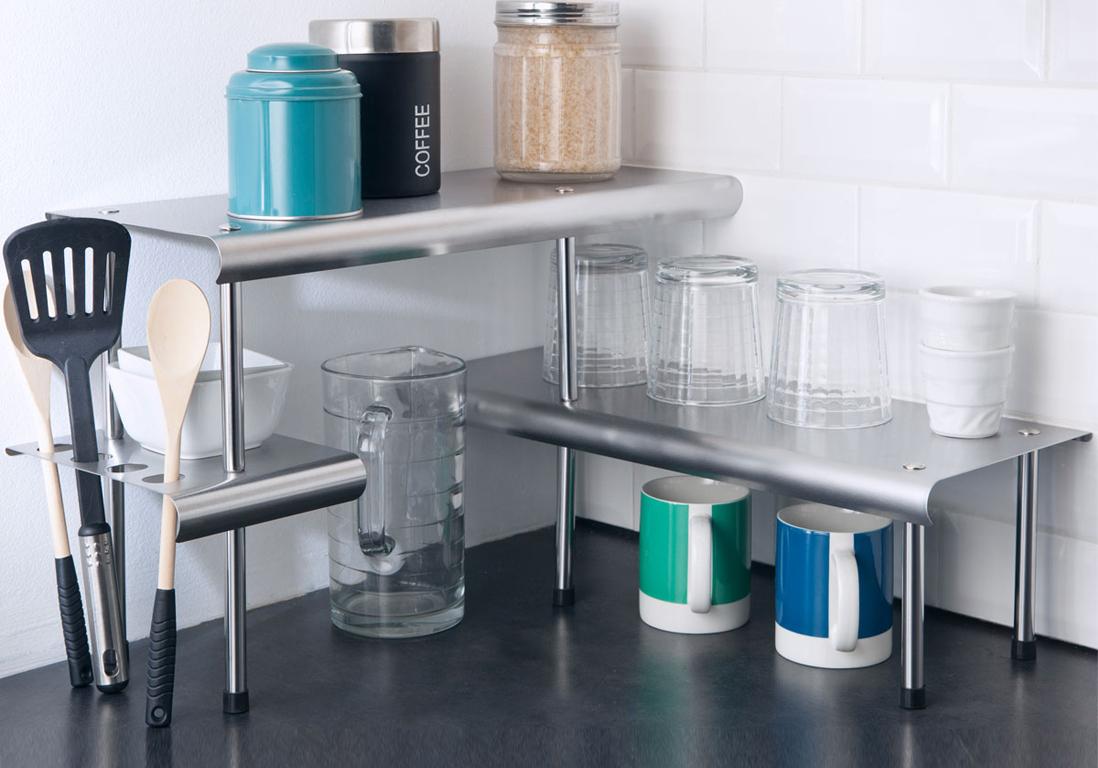 Toutes Nos Astuces Déco Pour Aménager Une Petite Cuisine Elle - Meuble d angle cuisine pour idees de deco de cuisine
