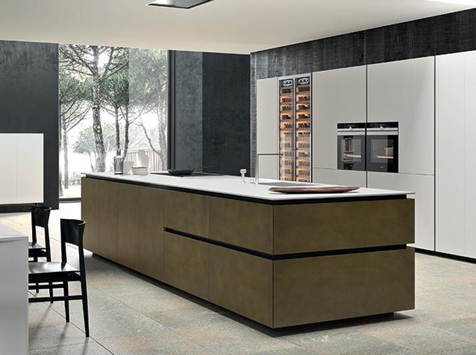 Decoration Cuisine Campagne : Une cuisine design organisée en blocs